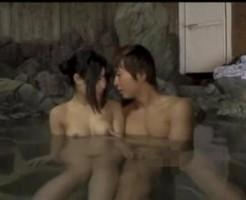 イケメン彼氏と混浴露天風呂でイチャラブ中出しエッチ! pornhub女性向け【無修正】