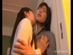 【レズ】先生を私の物にしたいの!清楚な女の子が女教師に強引にキスして攻めちゃう!