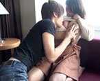 ジャニ系のイケメンお兄さんに甘えてキスする女の子がそのままイチャイチャタイムへ!【タツ】